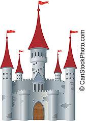 kasteel, fairy-verhaal