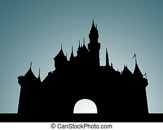 kasteel, grijze