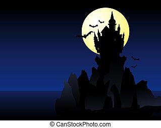 kasteel, halloween