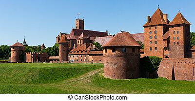 kasteel, malbork, polen