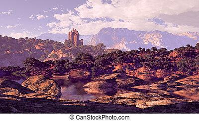 kasteel, meer