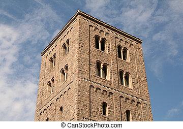 kasteel, oud, toren