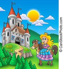 kasteel, paarde, prinsesje