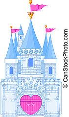 kasteel, romantische