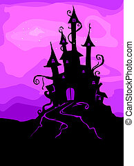 kasteel, rondgespookte