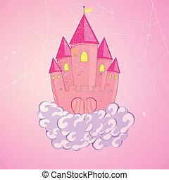 kasteel, vector, prinsesje