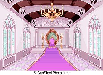 kasteel, zaal