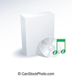 kasten, dvd, cd cd, musik, leer