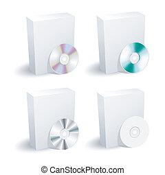 kasten, dvd, sammlung, leer