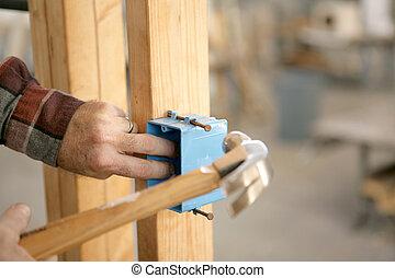kasten, elektrisch, installieren