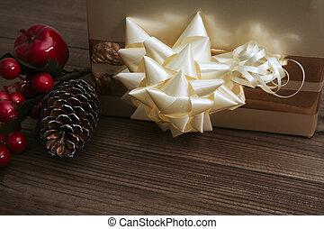 kasten, holz, altes , weihnachtsgeschenk