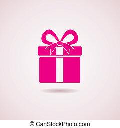 kasten, ikone, vektor, geschenk