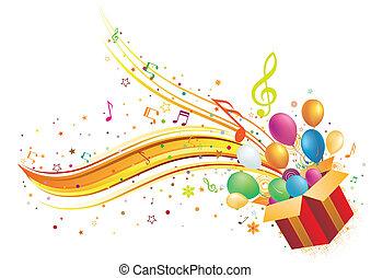 kasten, musik, geschenk