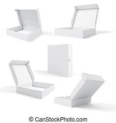 kasten, produkt, hintergrund, leer, weißes, 3d