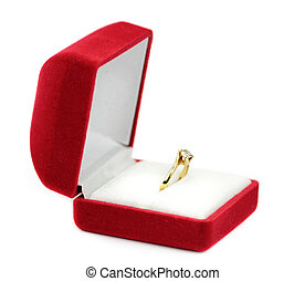 kasten, ringe, geschenk, wedding