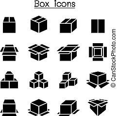 kasten, satz, ikone