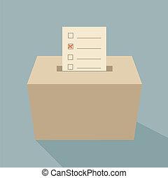 kasten, stimmzettel, stimme