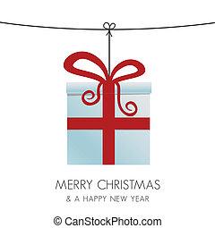 kasten, weihnachtsgeschenk, hängender