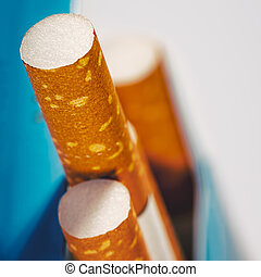 kasten, wenige, abstrakt, hintergruende, zigaretten