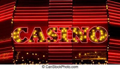 kaszinó, neonreklám, las vegas