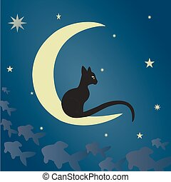 kat, black , maan