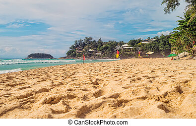 Kata Noi beach at Phuket island south part on summer sunny...