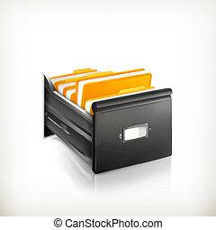 katalógus, nyílik, kártya