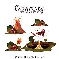 katastrof, naturlig, design