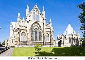 katedra, lincoln, anglia, midlands, wschód