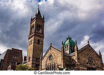 katedra, w, boston, massachusetts.