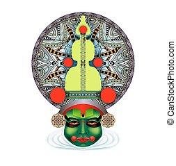 kathakali, χορευτής , ινδός , ζεσεεδ