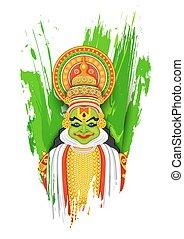 kathakali, χορευτής