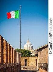 kathedraal, straat. peter, aanzicht, rome