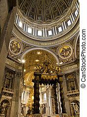 kathedraal, straat. peter, vatican
