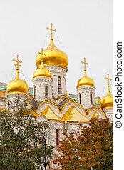 kathedrale, kreml, russland, arkhangelsk, moskauer