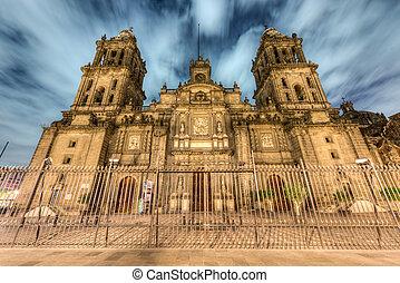kathedrale, mexiko, hauptstädtisch, stadt