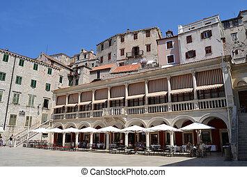 kathedrale, stadt, von, sibenik, kroatien
