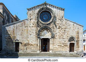kathedrale, von, bovino, eins, von, der, meisten, schöne , dörfer, in, italy., puglia, -, italien