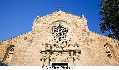 kathedrale, von, der, verkündigung, in, otranto, provinz, von, lecce, apu