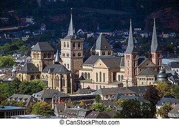 kathedrale, von, heilige, peter, in, trier, deutschland