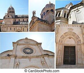 kathedrale, von, sibenik, kroatien