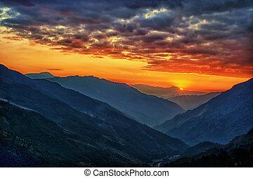 kathmandu, 골짜기, 네팔, kalinchok