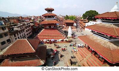 Kathmandu cityscape, Durbar Square, Nepal