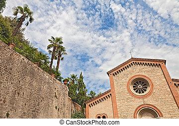 katholiken, uralt, italien, terme, castrocaro, kirche