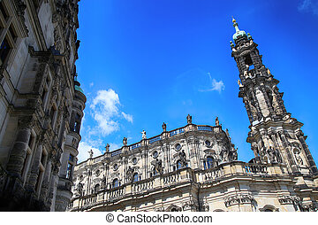 Katholische Hofkirche, Schlossplatz in Dresden, State of Saxony, Germany
