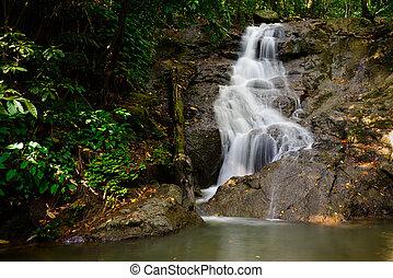 kathu, provincia, phuket, cascada, hermoso, thailand.