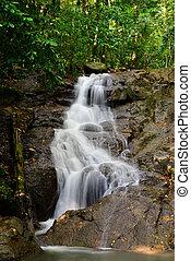 kathu, thailand., hermoso, phuket, cascada, provincia