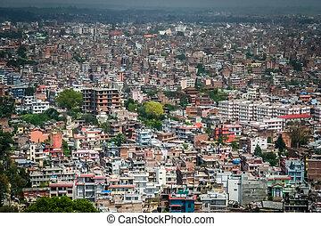 Katmandou, aérien, vue