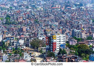 katmandou, ville, népal