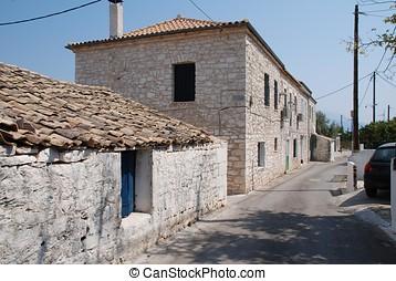 Katomeri street, Meganissi - Street scene in Katomeri,...